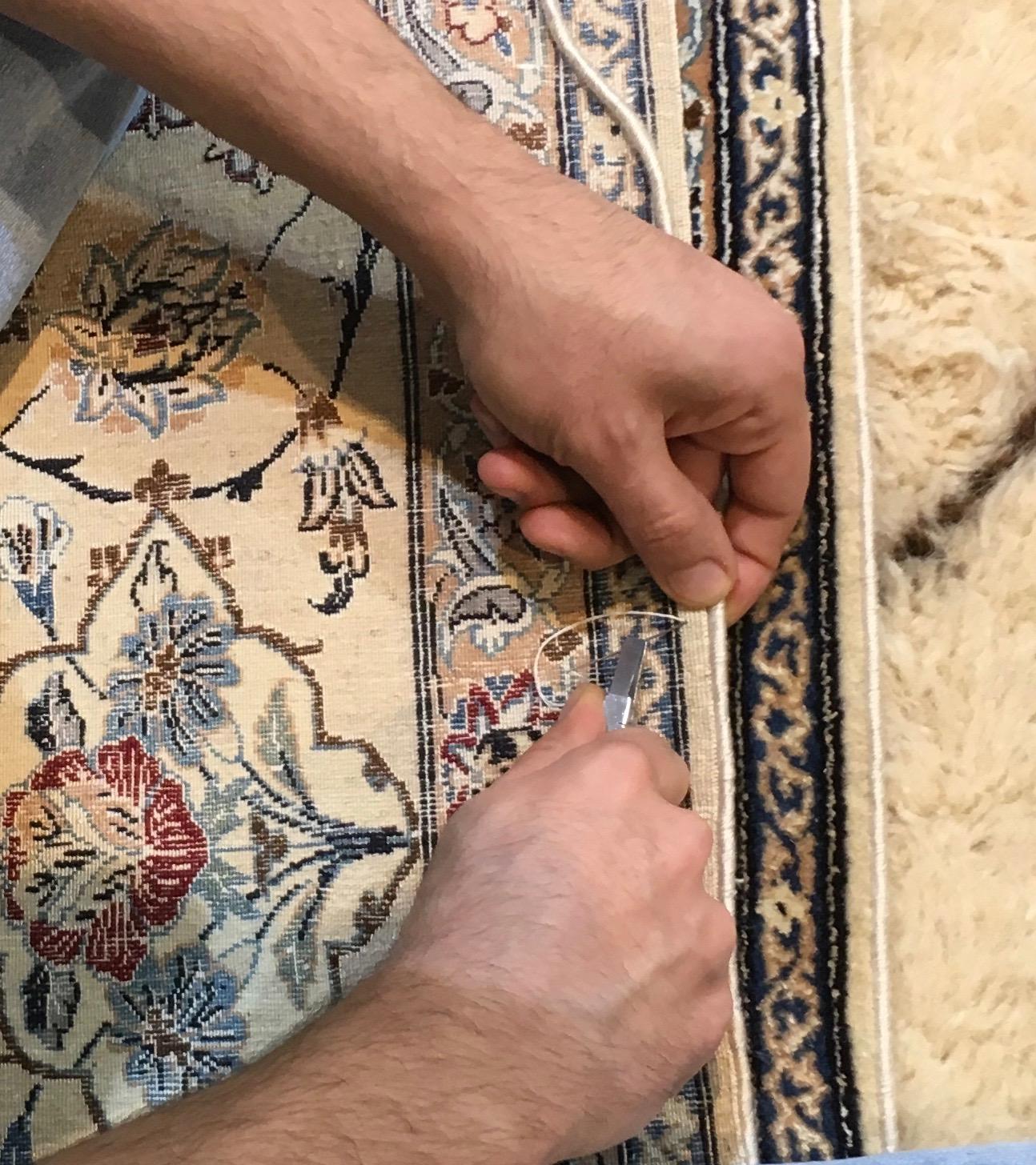 reparer les lisi res d 39 un tapis paris le laboratoire du tapis restauration de tapis paris. Black Bedroom Furniture Sets. Home Design Ideas